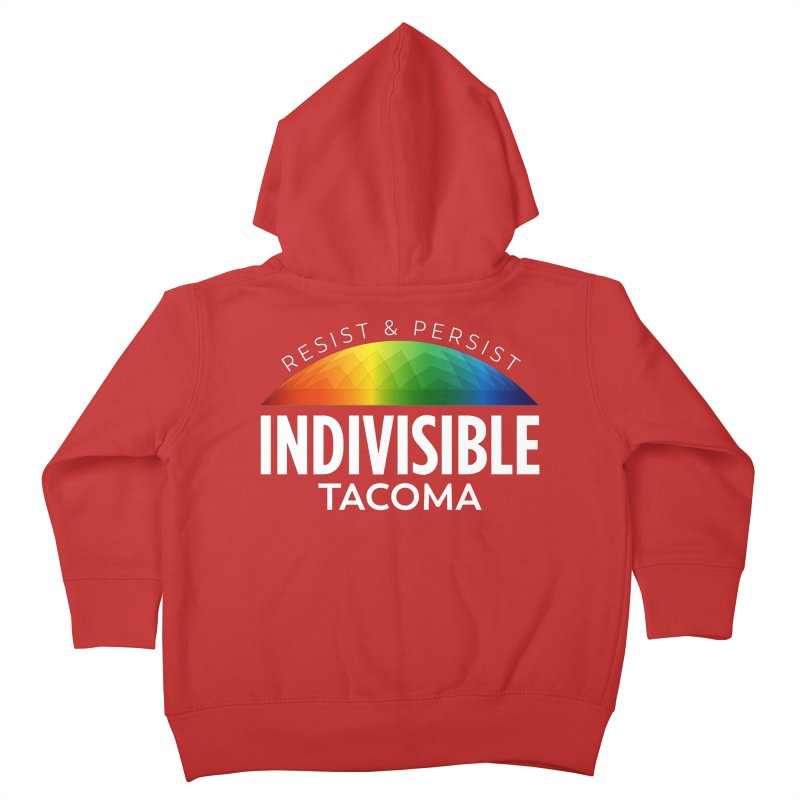 Indivisible Tacoma rainbow dome - white Kids Toddler Zip-Up Hoody by SymerSpace Art Shop