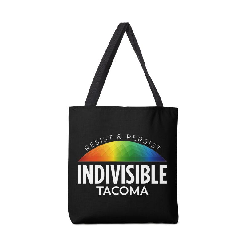 Indivisible Tacoma rainbow dome - white Accessories Bag by SymerSpace Art Shop
