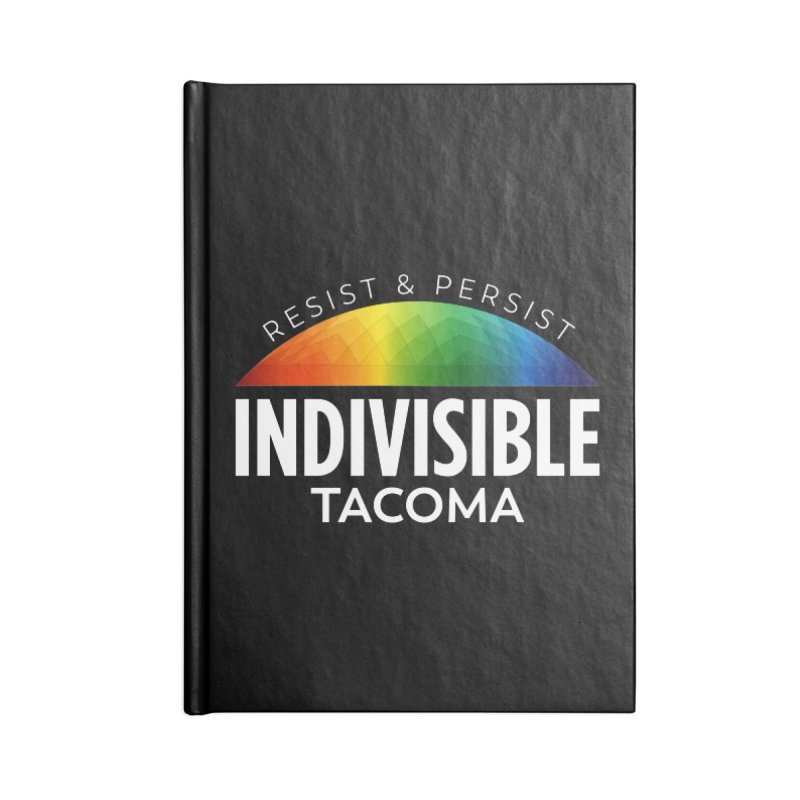 Indivisible Tacoma rainbow dome - white Accessories Notebook by SymerSpace Art Shop