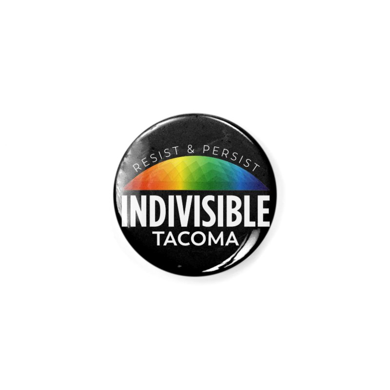 Indivisible Tacoma rainbow dome - white Accessories Button by SymerSpace Art Shop