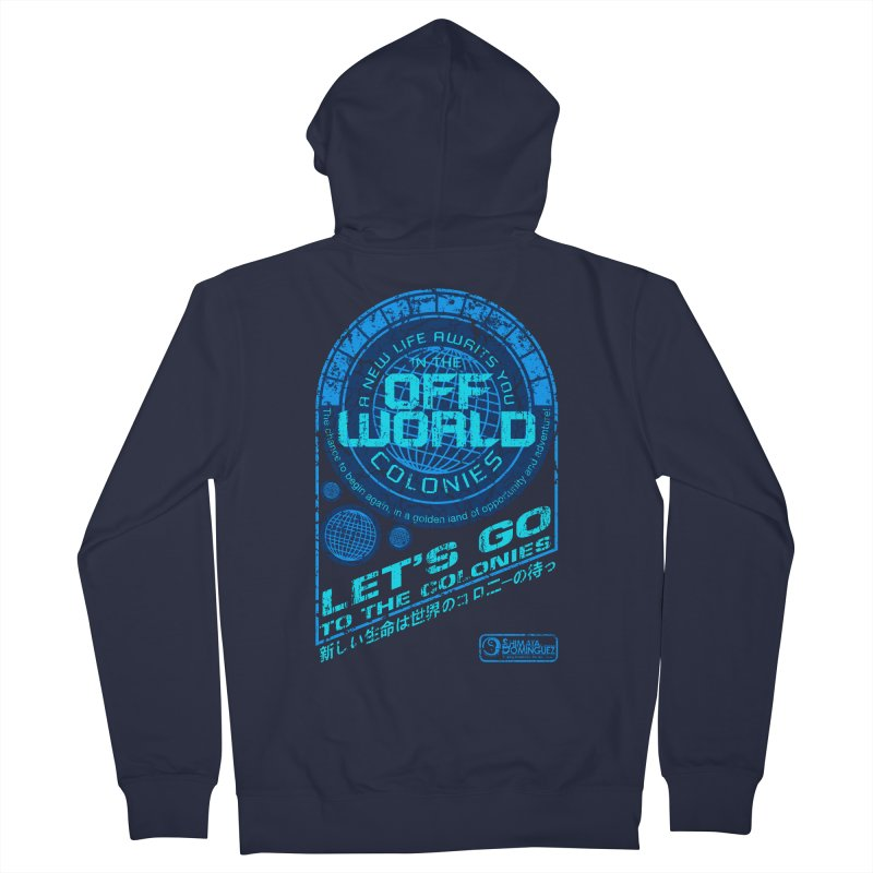 Off World Men's Zip-Up Hoody by synaptyx's Artist Shop