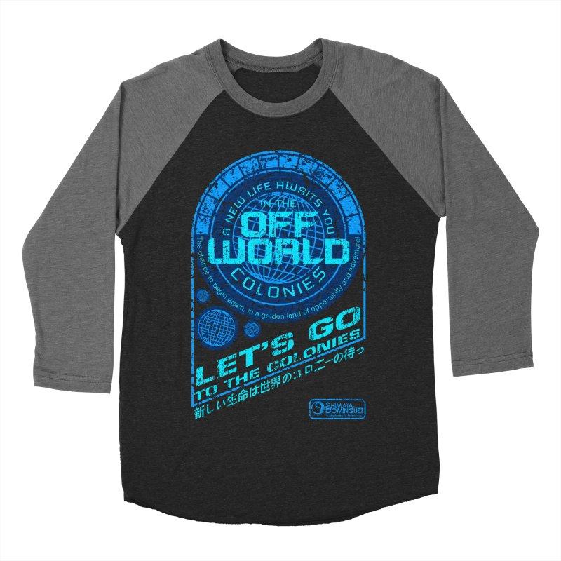 Off World Men's Baseball Triblend T-Shirt by synaptyx's Artist Shop