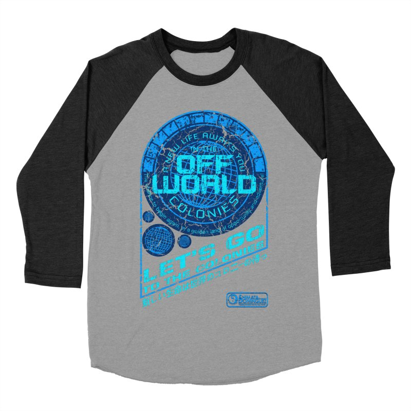 Off World Men's Baseball Triblend T-Shirt by synaptyx's Artist Shop