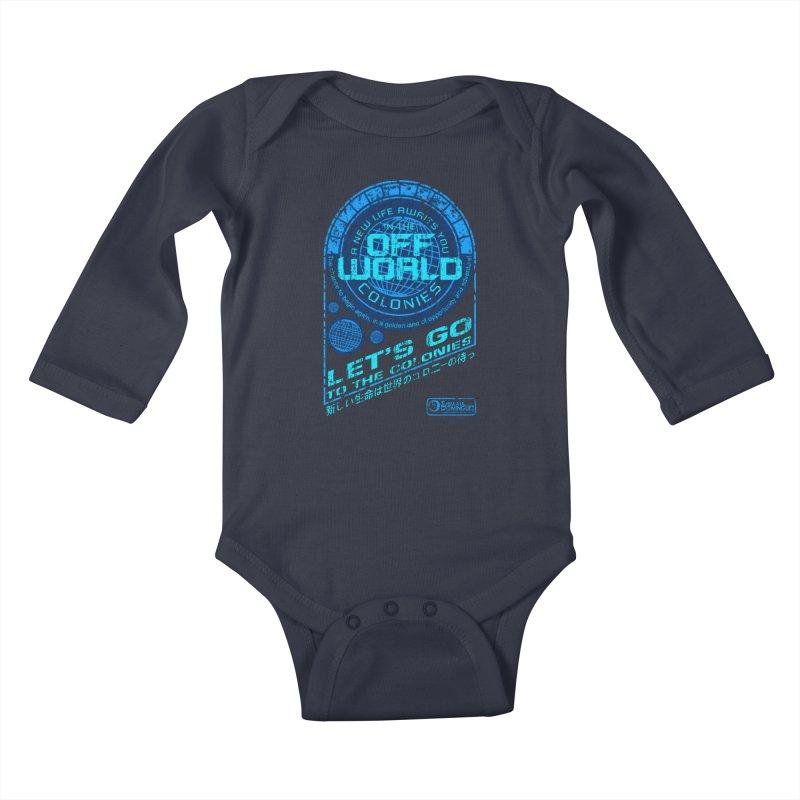 Off World Kids Baby Longsleeve Bodysuit by synaptyx's Artist Shop