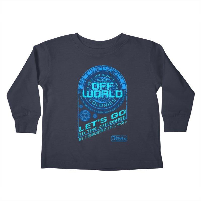 Off World Kids Toddler Longsleeve T-Shirt by synaptyx's Artist Shop