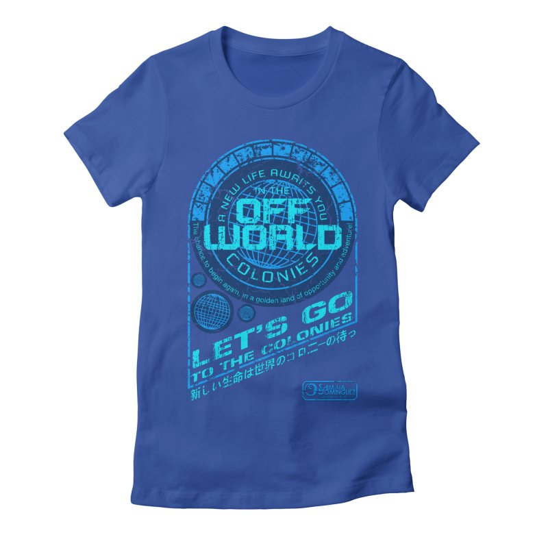 Off World Women's Fitted T-Shirt by synaptyx's Artist Shop