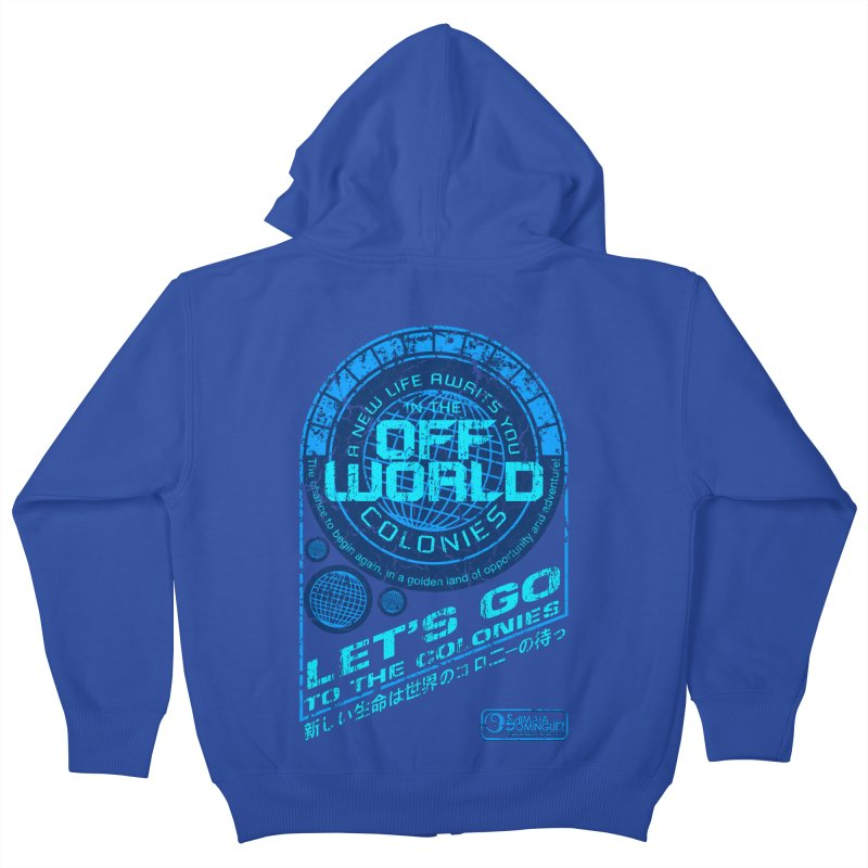 Off World Kids Zip-Up Hoody by synaptyx's Artist Shop