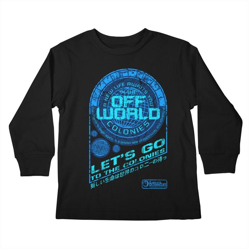 Off World Kids Longsleeve T-Shirt by synaptyx's Artist Shop