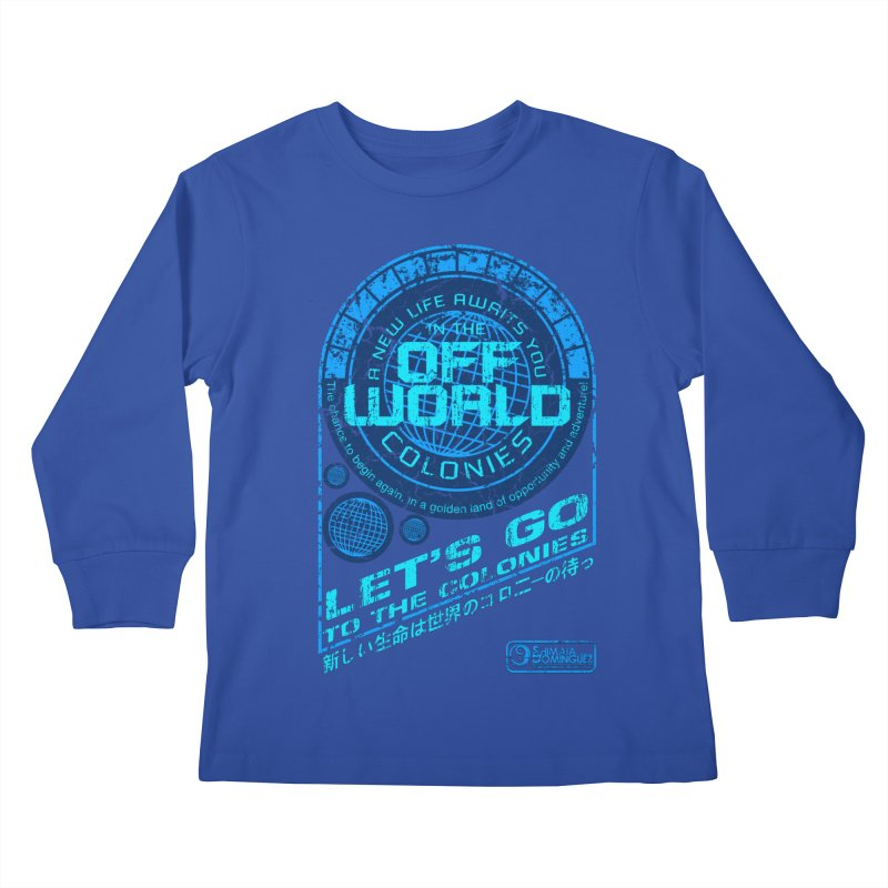Off World Kids Longsleeve T-Shirt by synaptyx's Artist Shop