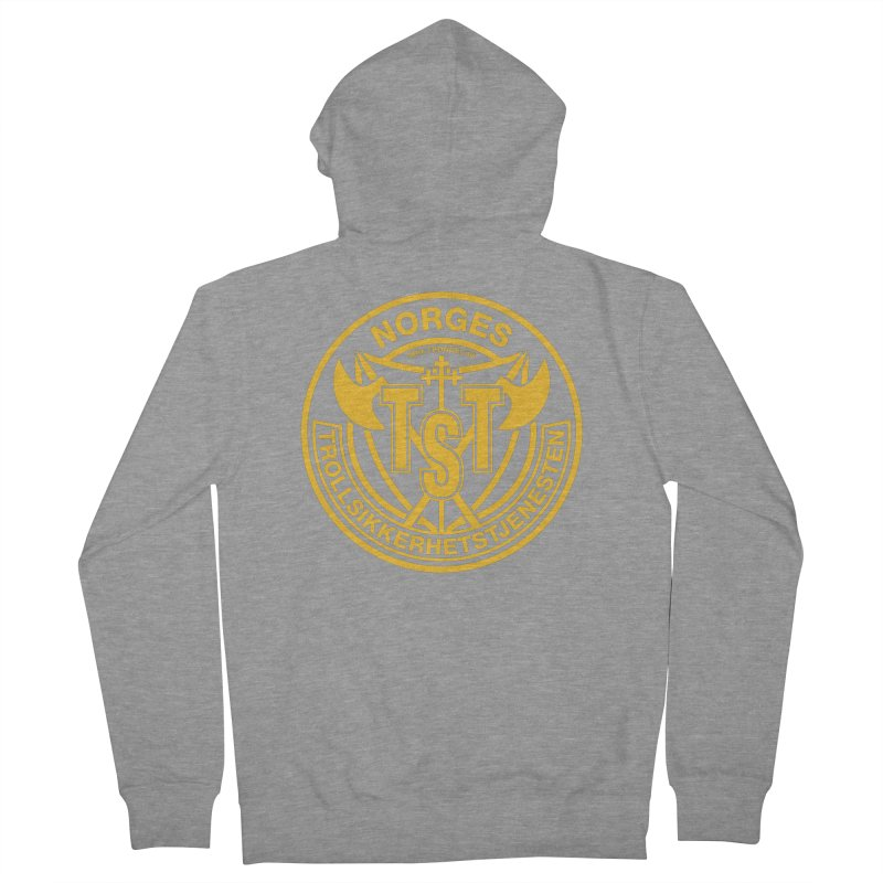 Troll Security service Men's Zip-Up Hoody by synaptyx's Artist Shop