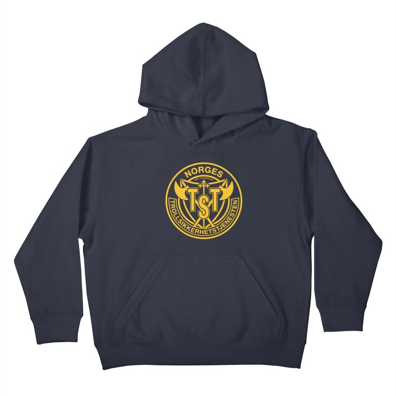 Troll Security service Kids Pullover Hoody by synaptyx's Artist Shop