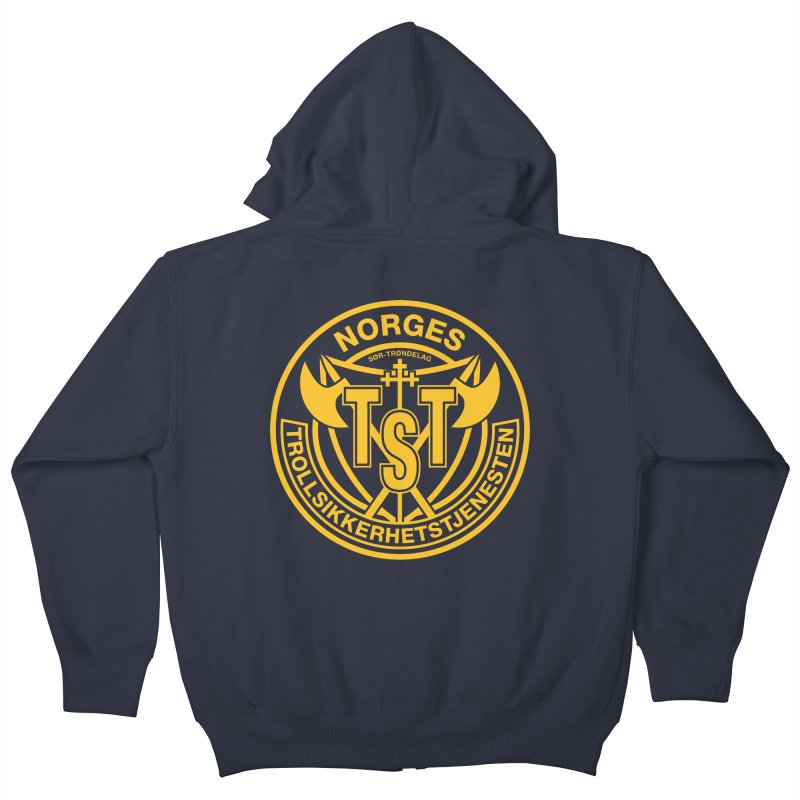 Troll Security service Kids Zip-Up Hoody by synaptyx's Artist Shop