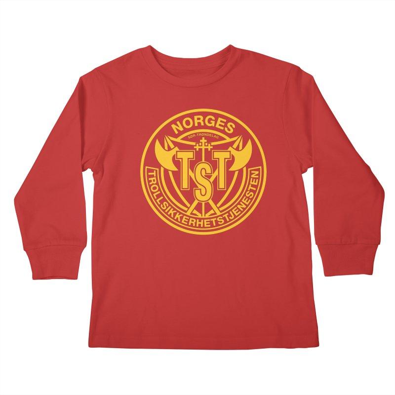 Troll Security service Kids Longsleeve T-Shirt by synaptyx's Artist Shop