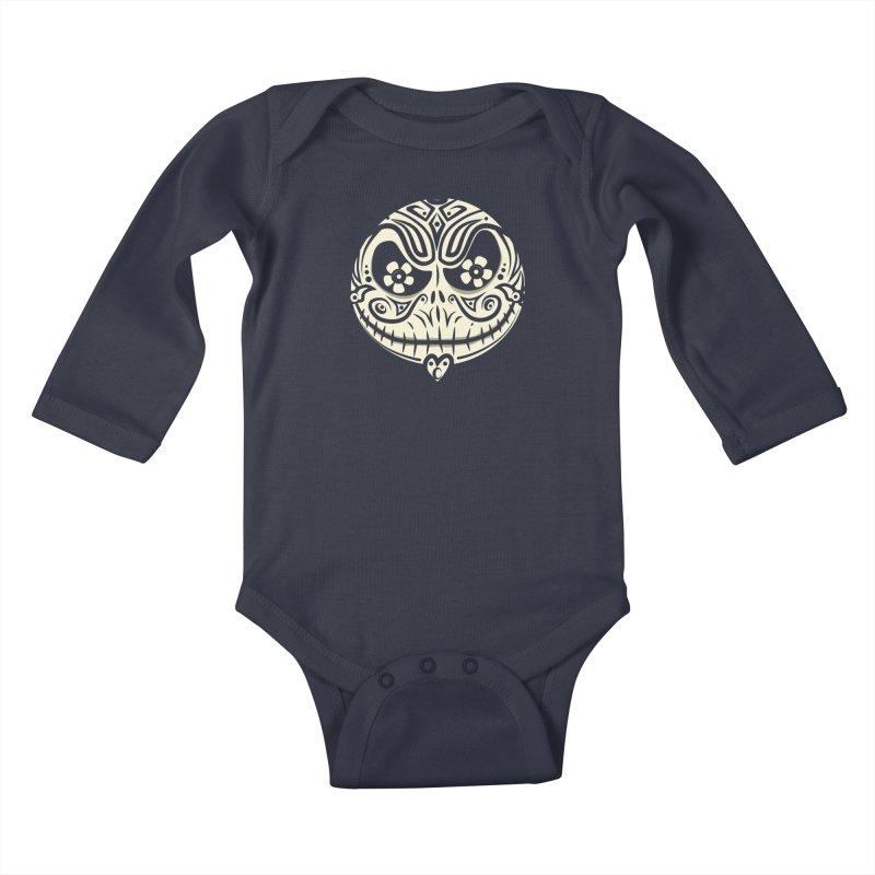 Jack De Los Muertos Kids Baby Longsleeve Bodysuit by synaptyx's Artist Shop