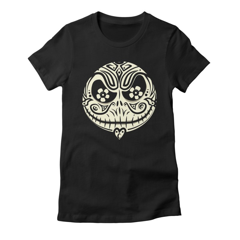 Jack De Los Muertos Women's Fitted T-Shirt by synaptyx's Artist Shop