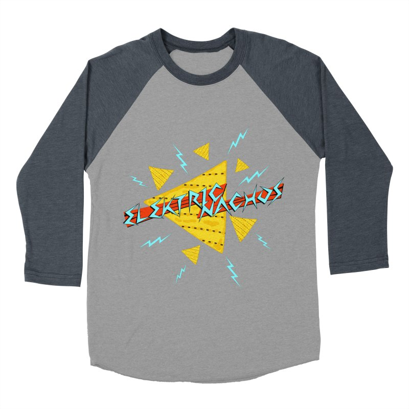 Elektric Nachos Men's Baseball Triblend T-Shirt by synaptyx's Artist Shop