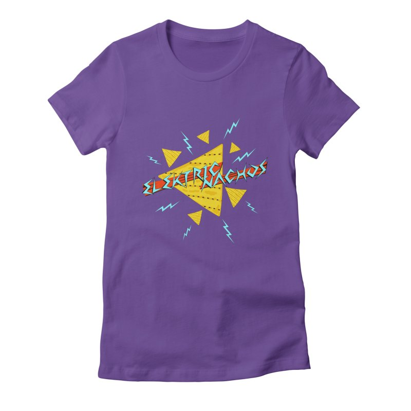 Elektric Nachos Women's Fitted T-Shirt by synaptyx's Artist Shop