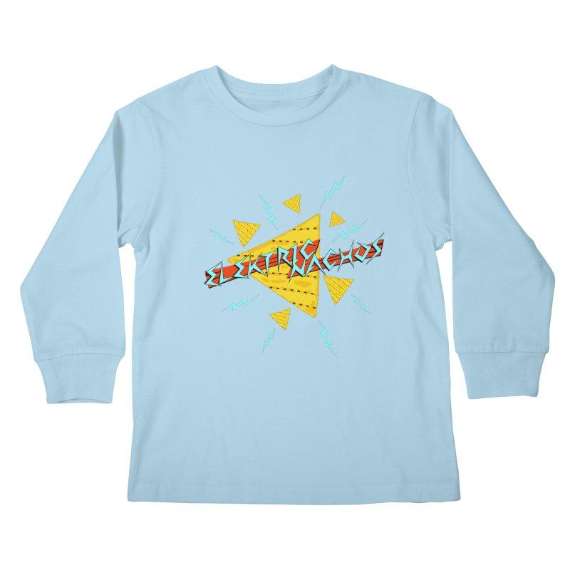 Elektric Nachos Kids Longsleeve T-Shirt by synaptyx's Artist Shop