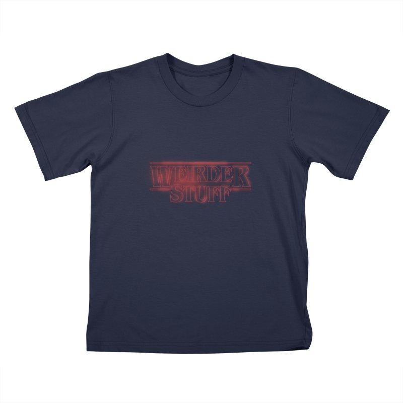 Weirder Stuff Kids T-shirt by synaptyx's Artist Shop