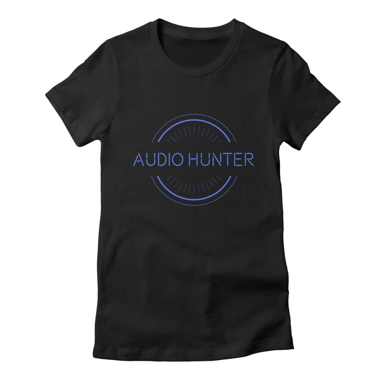 Audio Hunter Women's Fitted T-Shirt by Synchronized Music