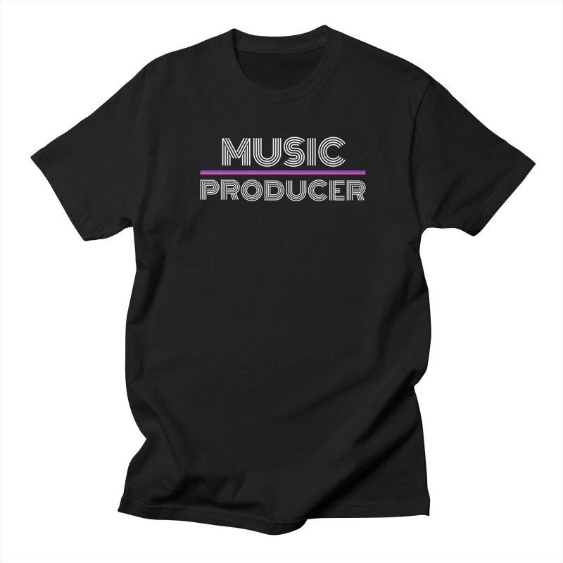80s Music Producer Men's Regular T-Shirt by Synchronized Music
