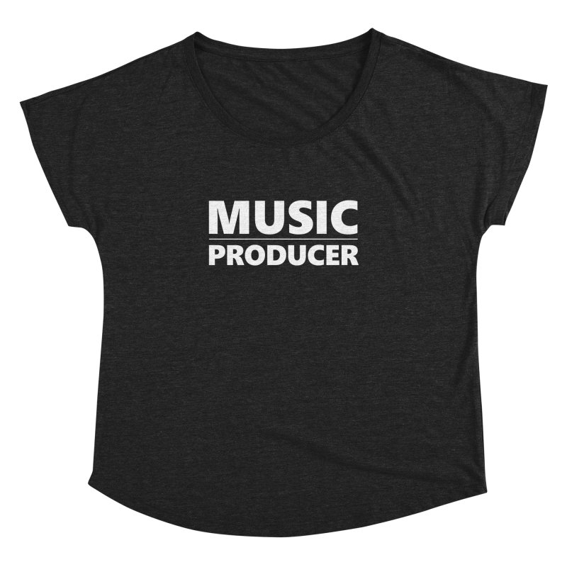 Music Producer Women's Dolman Scoop Neck by Synchronized Music