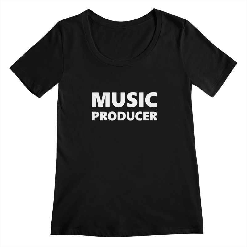 Music Producer Women's Scoopneck by Synchronized Music