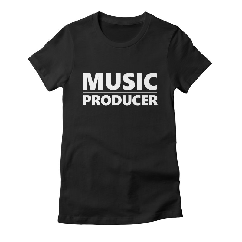 Music Producer Women's Fitted T-Shirt by Synchronized Music