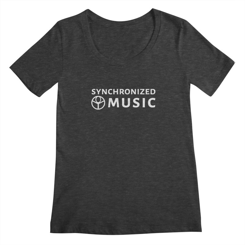 Synchronized Music Women's Scoopneck by Synchronized Music