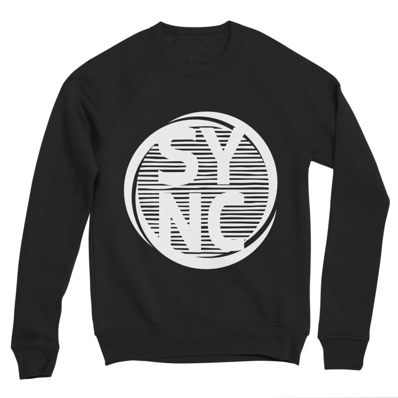 SYNC in White Men's Sponge Fleece Sweatshirt by SYNCSTUDIO Sweat Supplies
