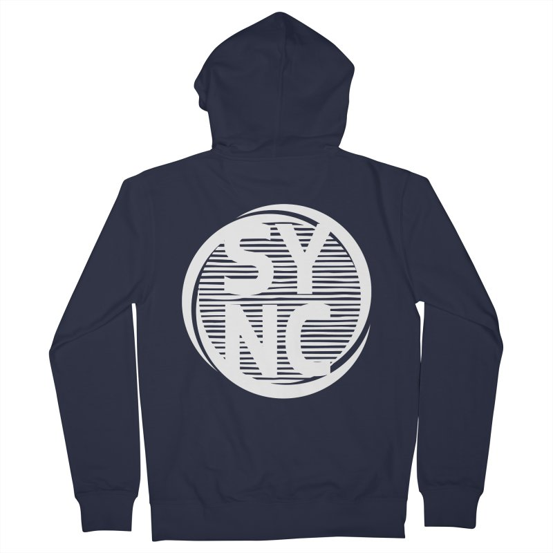 SYNC in White Women's French Terry Zip-Up Hoody by SYNCSTUDIO Sweat Supplies