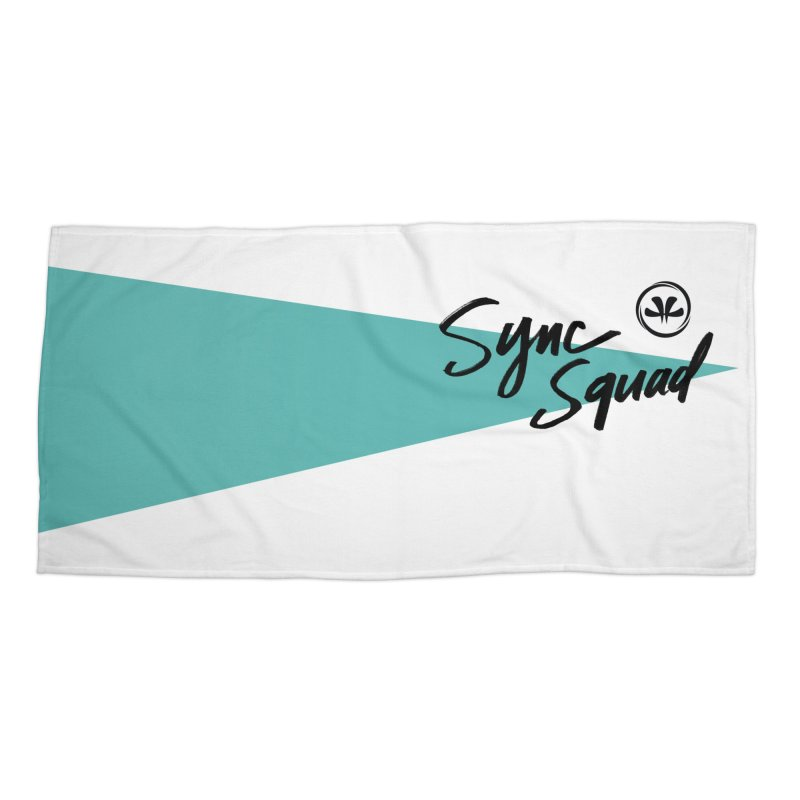 SYNCSQUAD in Teal Accessories Beach Towel by SYNCSTUDIO Sweat Supplies