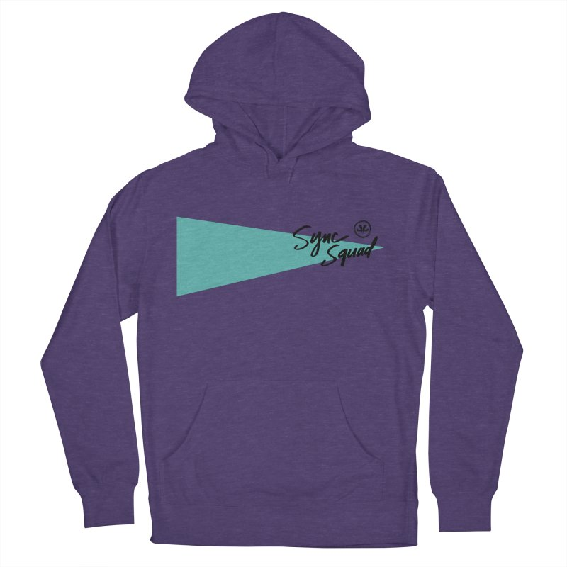 SYNCSQUAD in Teal Women's French Terry Pullover Hoody by SYNCSTUDIO Sweat Supplies