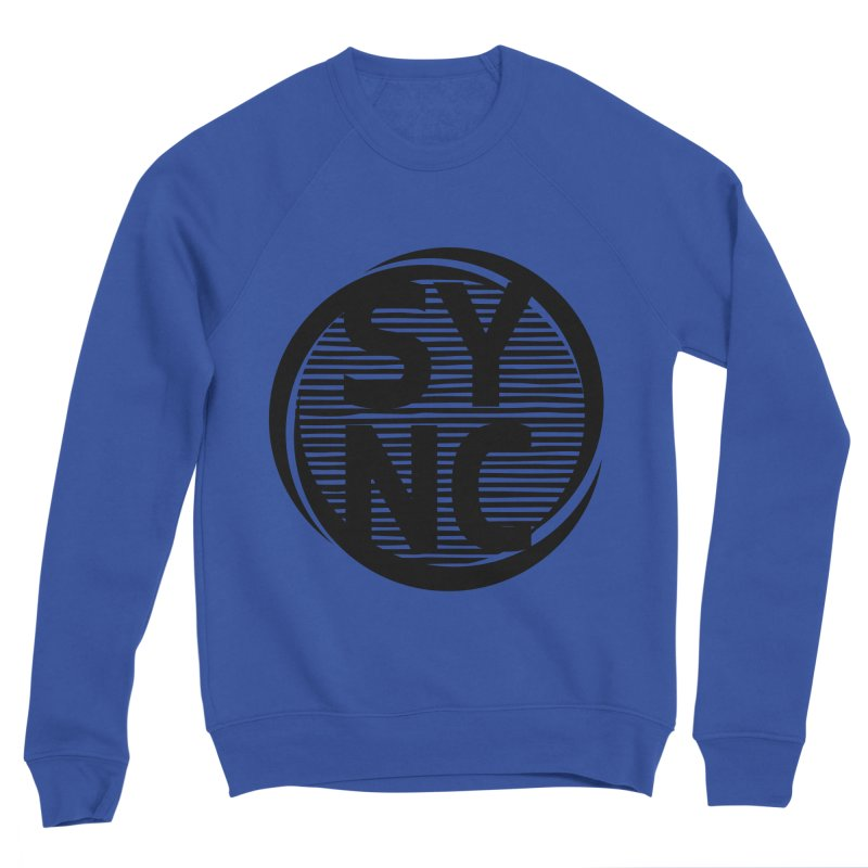 SYNC in Black Men's Sponge Fleece Sweatshirt by SYNCSTUDIO Sweat Supplies