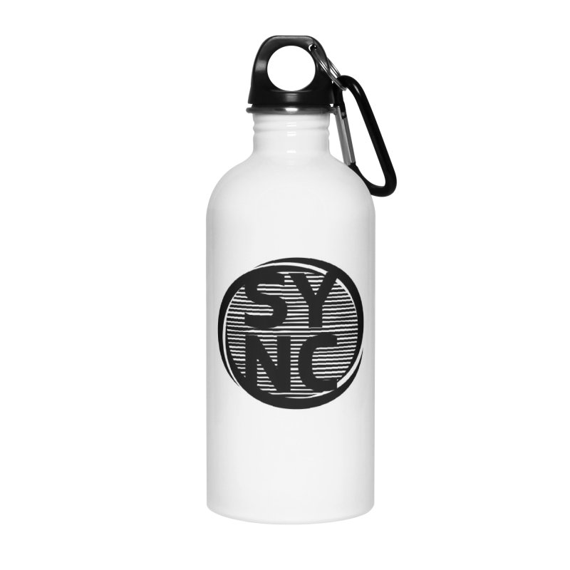 SYNC in Black Accessories Water Bottle by SYNCSTUDIO Sweat Supplies