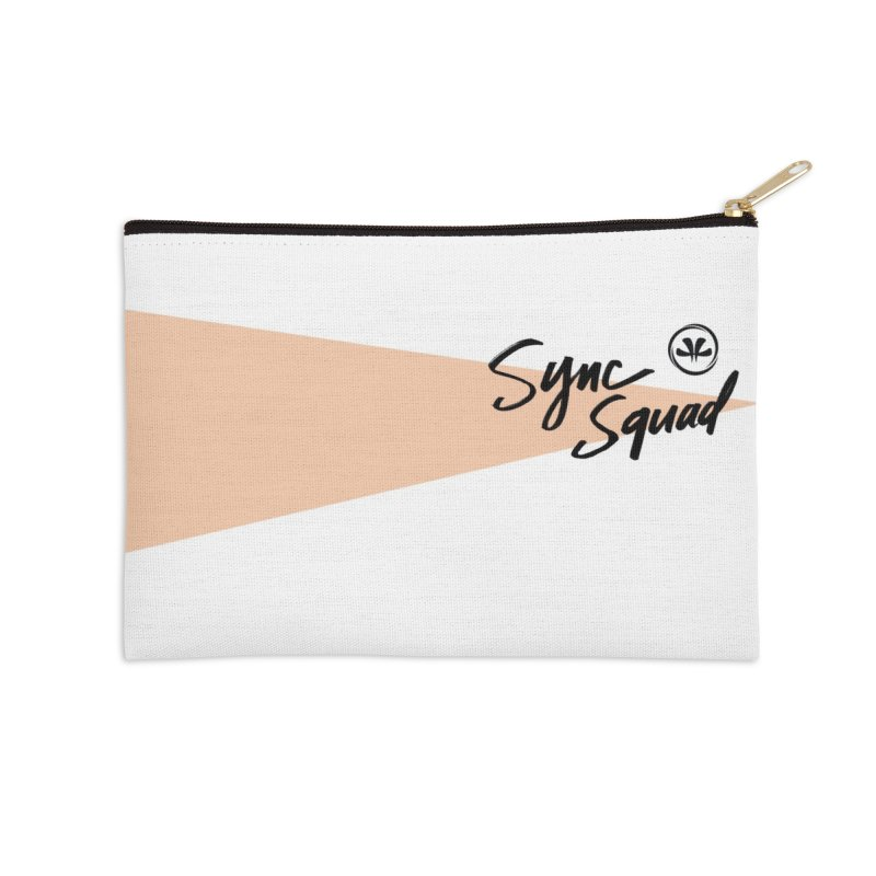 SYNCSQUAD in Peach Accessories Zip Pouch by SYNCSTUDIO Sweat Supplies