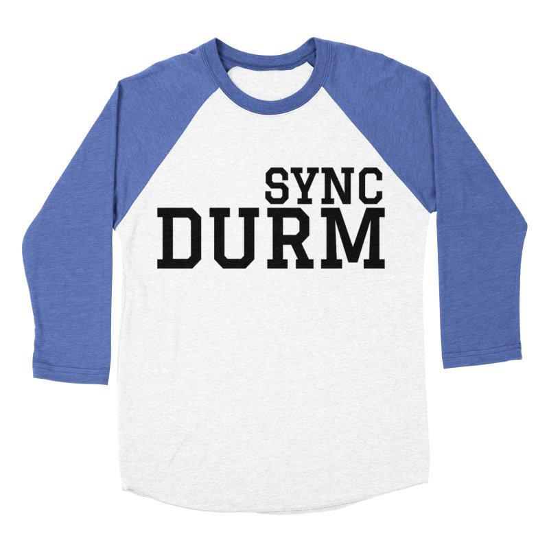 SYNC DURM Men's Baseball Triblend Longsleeve T-Shirt by SYNCSTUDIO Sweat Supplies