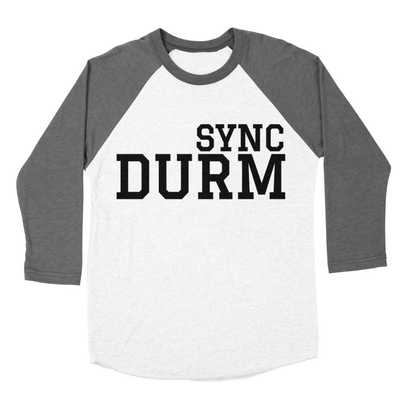 SYNC DURM Men's Baseball Triblend Longsleeve T-Shirt by SYNCSTUDIO Sweat Supplies