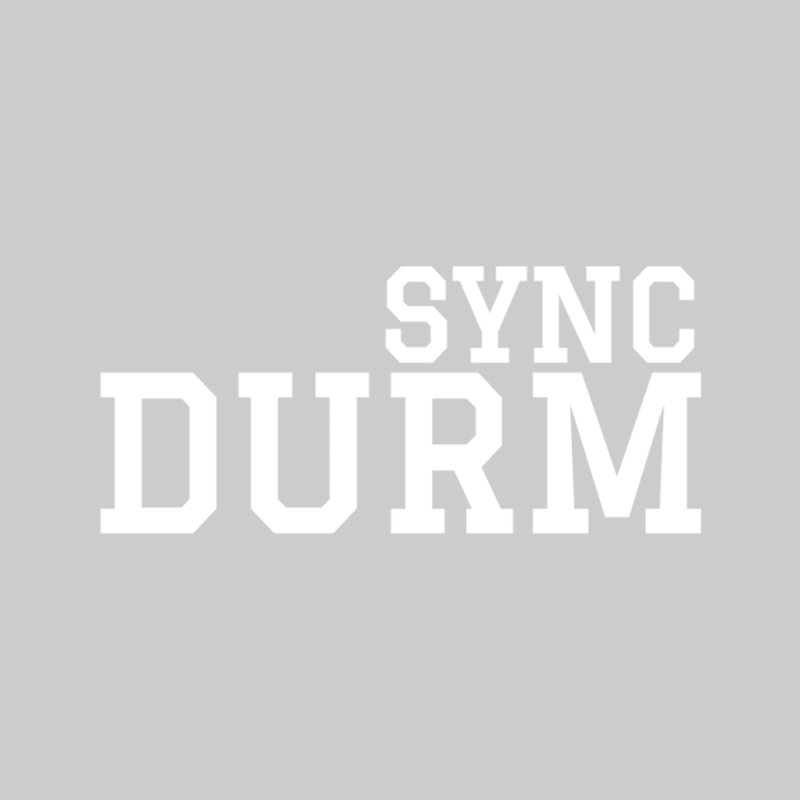 SYNC DURM in White by SYNCSTUDIO Sweat Supplies