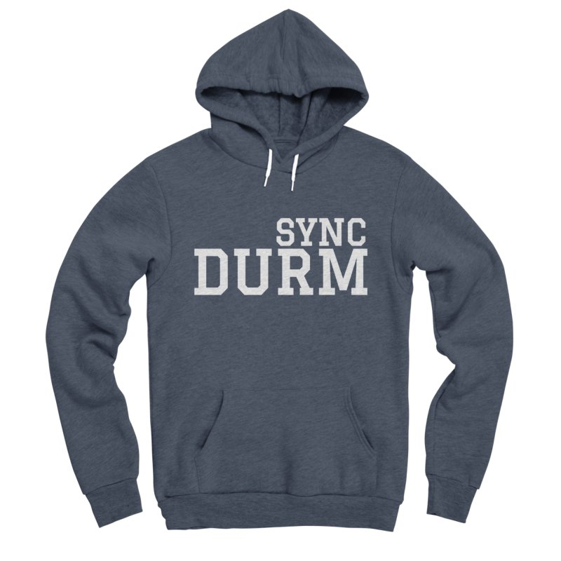 SYNC DURM in White Women's Sponge Fleece Pullover Hoody by SYNCSTUDIO Sweat Supplies