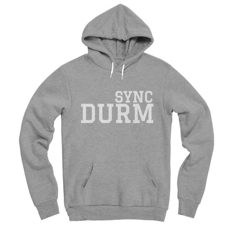 SYNC DURM in White Women's Sponge Fleece Pullover Hoody by SYNCSTUDIO Sweat Supplies
