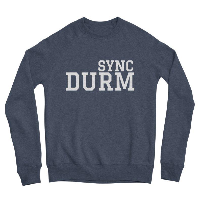 SYNC DURM in White Women's Sponge Fleece Sweatshirt by SYNCSTUDIO Sweat Supplies
