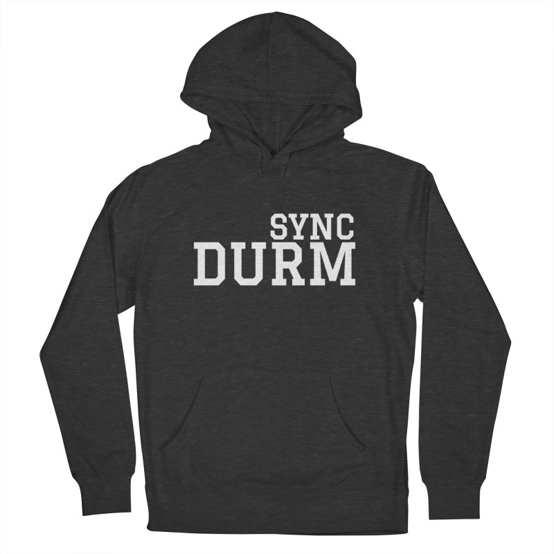 SYNC DURM in White Women's French Terry Pullover Hoody by SYNCSTUDIO Sweat Supplies