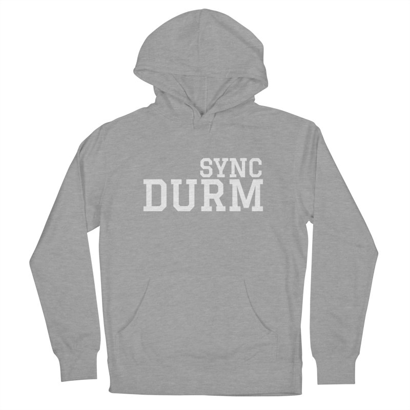SYNC DURM in White Men's French Terry Pullover Hoody by SYNCSTUDIO Sweat Supplies