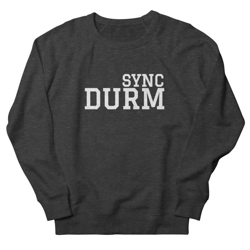 SYNC DURM in White Men's French Terry Sweatshirt by SYNCSTUDIO Sweat Supplies