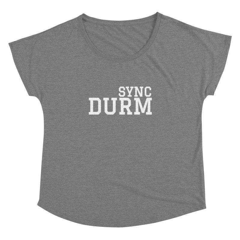 SYNC DURM in White Women's Dolman Scoop Neck by SYNCSTUDIO Sweat Supplies