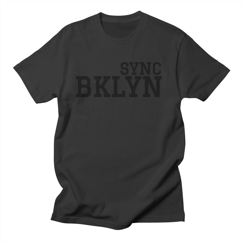 SYNC BKLYN Men's Regular T-Shirt by SYNCSTUDIO Sweat Supplies