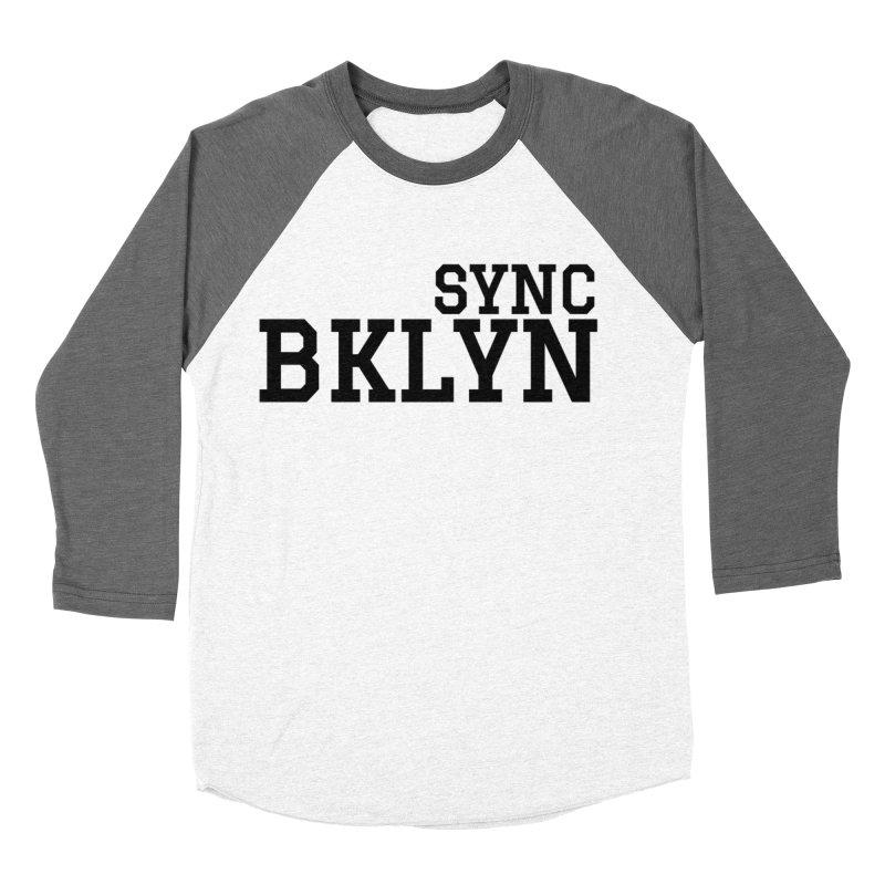 SYNC BKLYN Women's Baseball Triblend Longsleeve T-Shirt by SYNCSTUDIO Sweat Supplies