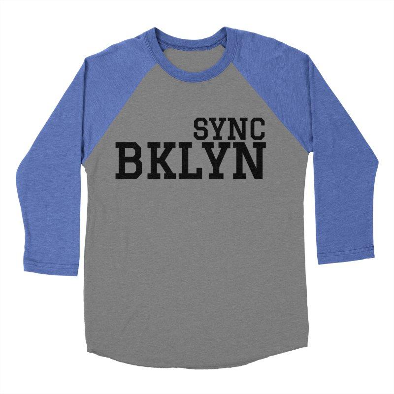 SYNC BKLYN Men's Baseball Triblend Longsleeve T-Shirt by SYNCSTUDIO Sweat Supplies