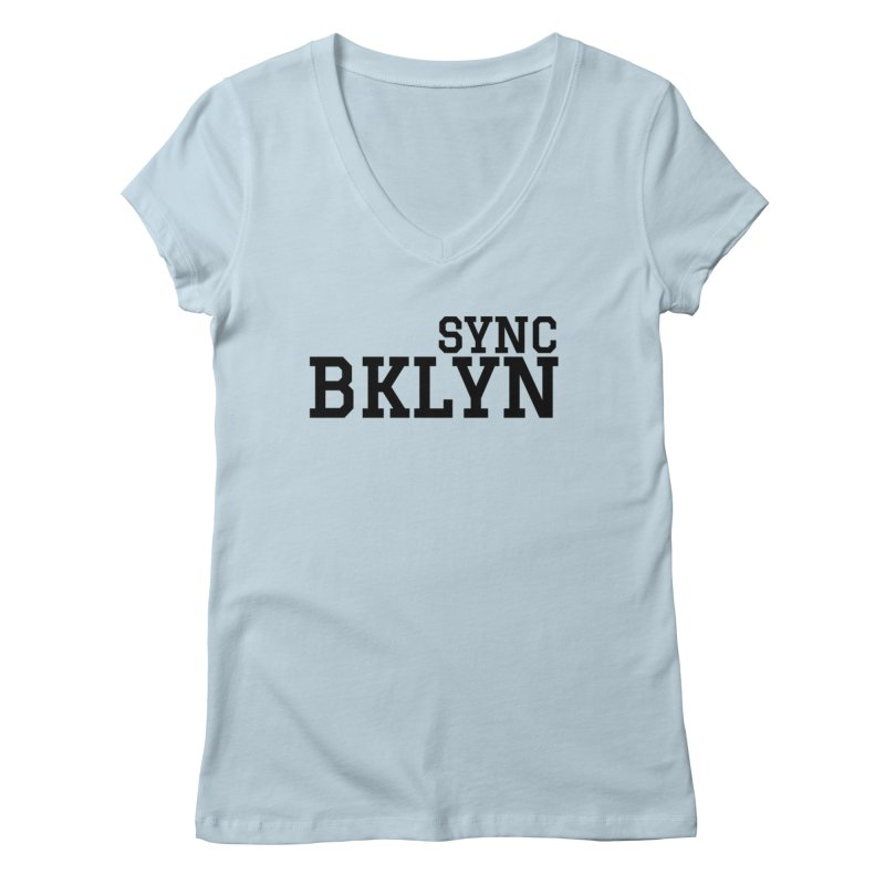 SYNC BKLYN Women's Regular V-Neck by SYNCSTUDIO Sweat Supplies
